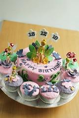 Tinkerbell Cake n Cupcakes Set