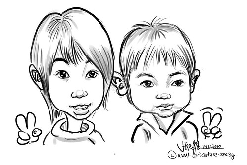 digital live sketching for Liang Court Christmas 2010 -Day 3 - 4