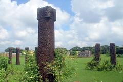 Laterite stone columns of Sisupalgarh (Sanjay P. K.) Tags: india archaeology ruins orissa bhubaneswar mauryan sisupalgarh
