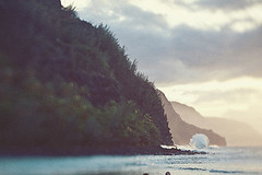 S P L A S H (* OneLovePhoto.com) Tags: ocean sunset canon hawaii coast wave homemade kauai 5d napali hanalei mkii keebeach tiltshiftlens onelovephoto wwwonelovephotocom