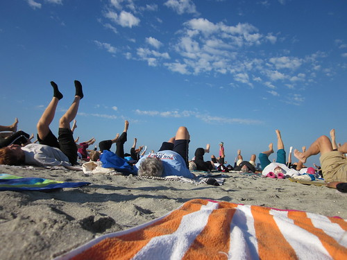 Coronado Residents Try Beach Yoga image