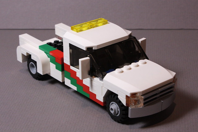 ford up wheel race truck boat lego speedboat transport pickup racing 350 f trailer pick fifth lugnuts gooseneck f350 moc dually hydrolift minifigscale
