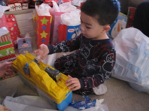 aidan, christmas morning