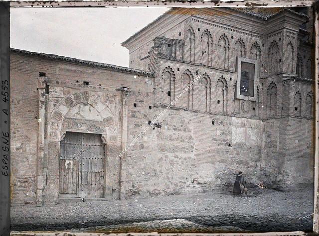 Convento de Santa Isabel entre el 15 y el 17 de junio de 1914. Autocromo de Auguste Léon. © Musée Albert-Kahn - Département des Hauts-de-Seine