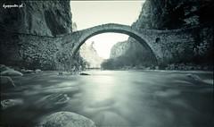 Kokkorou (kzappaster) Tags: bridge 6x6 film mediumformat river holga fuji pinhole greece fujifilm cameraobscura stenope stonebridge 160asa pro160s zagori voidomatis platinumheartaward koukouli kokkorou 120wpc noutsou hepirus