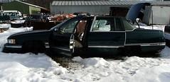 Junked Cadillac (kustommghia) Tags: snow junk nw pennsylvania cadillac abanoned