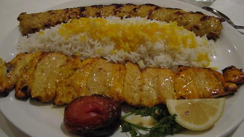 Chicken soltani kabab