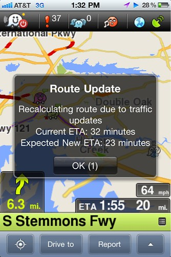 Waze Route Update