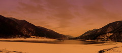 a journey of the river (Harlory) Tags: winter light panorama cloud mountain lake snow ice water river lago agua nikon aqua eau wasser nuvole romania coolpix ghiaccio olt p100 slatina valcea explored nikonp100