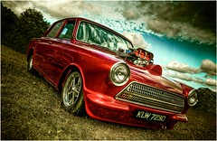 Rocket Red (alpine64andy) Tags: red england ford cortina kent nikon hdr v8 carart fordcortina mk1cortina bethersden worldcars nikond300 nikonflickraward darlingbudscarshow andyflood ringexcellence alpine64andy modifiedcortina customcortina blowncortina