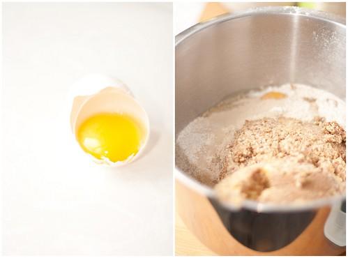 ingredientes para o pão de cinco grãos