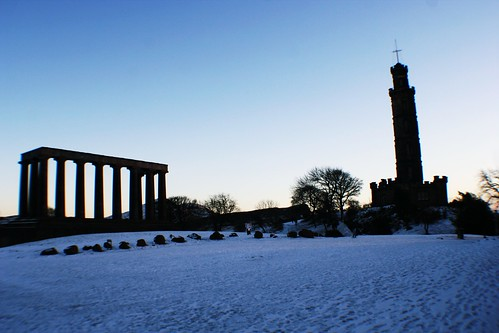 Winter Scene at Calton Hill, Edinburgh