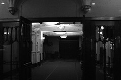 inside Letterman's theater (philliefan99) Tags: nyc newyorkcity blackandwhite bw manhattan lobby timessquare gothamist gotham lateshowwithdavidletterman edsullivantheater theaterdistrict