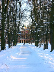 Ludwigsburg - Schlossparkallee ,Jagd- und Lustschloss Favorite - 2 , walking in the snow (roba66) Tags: park schnee trees winter snow castle history ice garden hiver jardin historic schloss bume garten antic ludwigsburg historie allee schlsser geschichte antik historisch jagdschloss lustschloss schlossfavorite roba66 dhiver