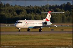 Austrian Arrows - OE-LVD - Fokker 100 (Tom McNikon) Tags: osl gardermoen austrian fokker regionaljet fokker100 engm tyrolean austrianairlines austrianarrows oelvd osloairportgardermoen