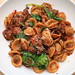 Pasta with Tomato, Sausage and Spinach