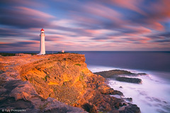 Sunset at Cape Nelson (-yury-) Tags: ocean sunset sea sky lighthouse clouds portland landscape australia nelson victoria cape vic greatoceanroad