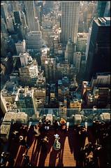 Vertigo (colour) (RoryO'Bryen) Tags: newyork vertigo colour film 35mm rangefinder leica m7 28mm fuji slide topoftherock rockerfellercenter flickraward roryobryen leicam7 leicam analog messsucher leicaelmaritm28mm leicaelmaritm28mmf28asph copyrightroryobryen