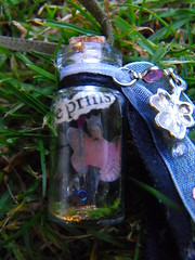 Elfjes Mini Fairy Tinkling Wishing Bottle/ The Prince 4 (FairyMuch- Elvira Ter Horst) Tags: glass fairytale necklace bottle creative fairy tiny wish charmed