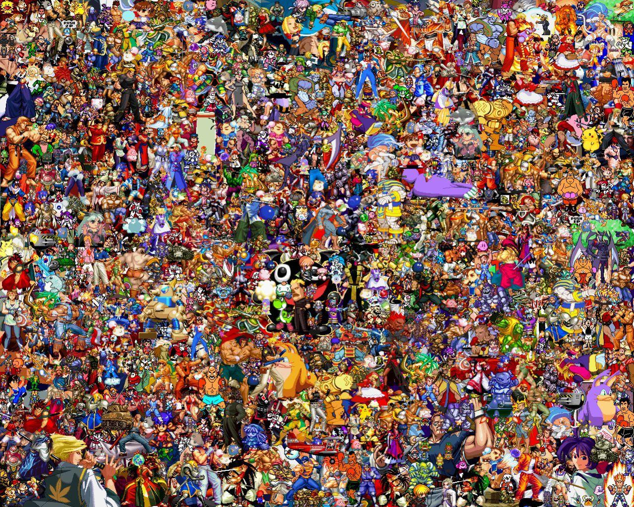 Collage sprites