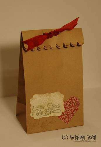 A Merry Christmas Mini Lunch Sack