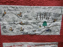 Calvin and Hobbes Treasure Map (Subversive Crafting) Tags: embroidery crafts calvinandhobbes