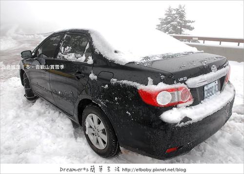 通道的雪鏟乾淨後,車子終於可以開進來囉!