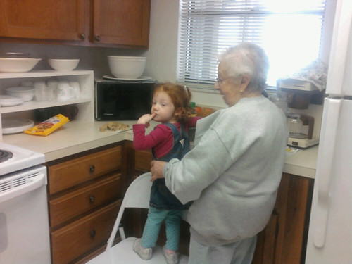 Baking cookies with nonni.