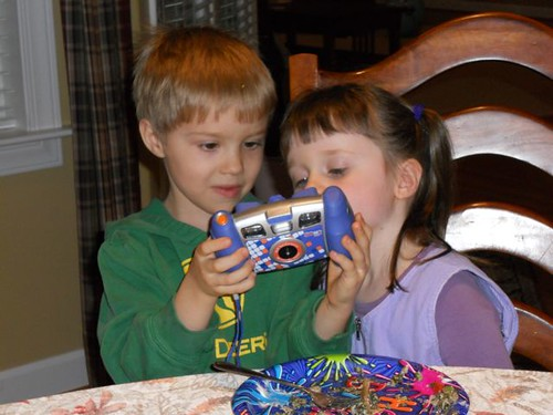 The four-year-old's camera