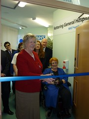 Photo of Baroness Hanham Officially opens the NHS - Blood testing centre