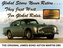 1963 Aston Martin DB5, James Bond movie car