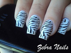 Zebra Nails [EXPLORED] (Anna x)) Tags: m57 polar konad zebranails biguniverso