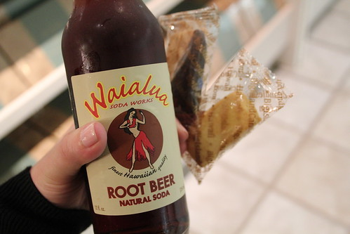 All natural root beer! and Big Island Shortbread.