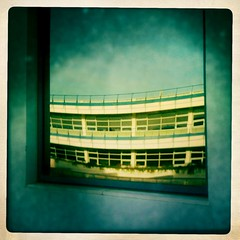 bendingTimeAndSpace | iphoneography series (davidclifford) Tags: distortion color building portugal window glass architecture square mirror perception bend oeiras iphone mirroring taguspark iphoneography hipstamatic