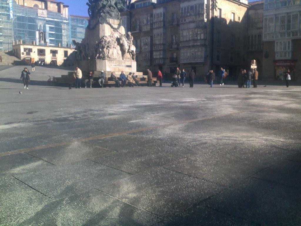 Vista del suelo de la plaza