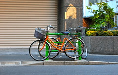 Twinned at birth (KittyKaht) Tags: colours tsukiji cycles