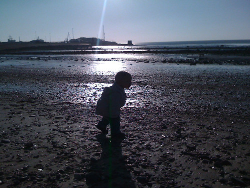 Beachcombing in Heysham