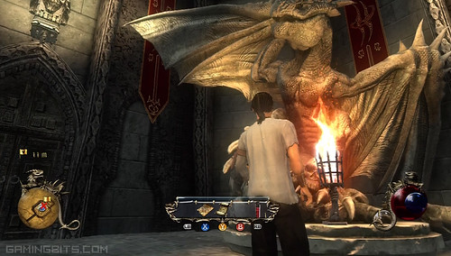 Two Worlds II screenshot - dragon statue!