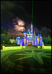 The Castle Green (Explore) (Gregg L Cooper) Tags: sleeping castle beauty night canon eos fireworks disneyland disney 7d efs 1022mm hdr