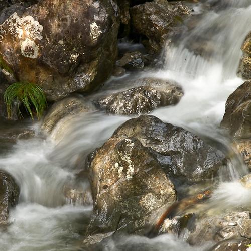 Half a second exposure of a rock