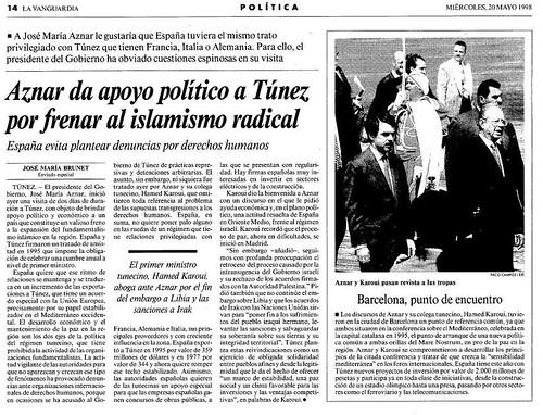Aznar en Túnez