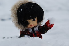 Bicho malo... (Makoto Mania) Tags: snow person nieve bamboo granada sierranevada secretdoll person21 muichan