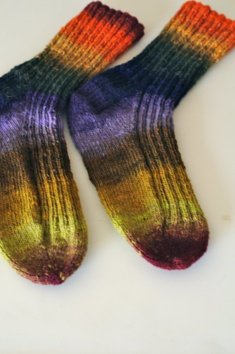 2x2 noro socks