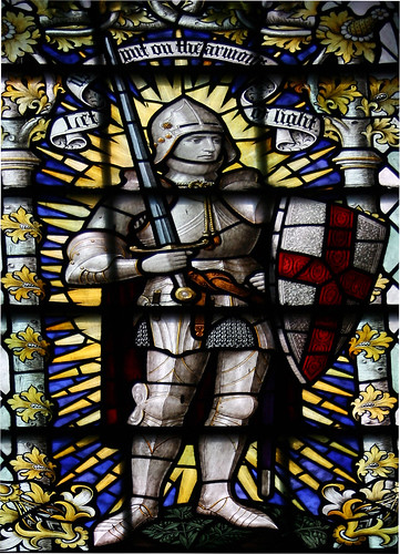 St George - Stained Glass Window Detail