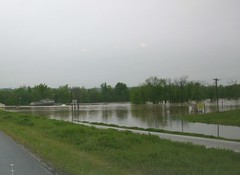 Flooded Race Track (proudnamvet........Patriot Guard Riders) Tags: oklahoma track watts ok motocross flooded