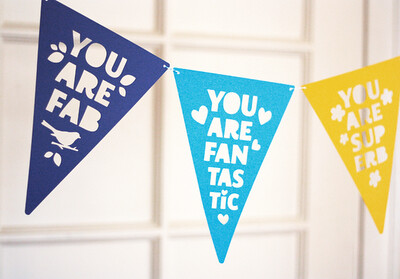 Papel Picado DIY Compliment Bunting