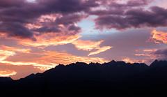 sunrise over the mountains (Pierre Huve) Tags: mountains summer automn sun sky colors sunrise red graphic landscape nature alps