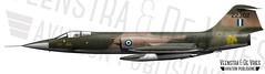 F-104G FG-302 22302 683D-6001 (Lieuwe de Vries) Tags: f104g 683d6001 fg302 22302 hellenicairforce f104 starfighter illustration profile drawing artwork lieuwedevries