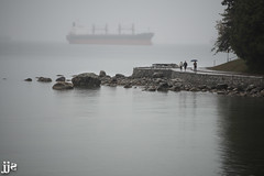 Fall Fog (Jeremy J Saunders) Tags: vancouver stanley park fog ship bc canada fall autumn seawall ocean jeremyjsaunders jjs d800 nikon second beach english bay