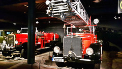 Magirus - M45L with firefighters ladder K30 (Germany, 1935) in Riga Motor Museum display. September 22, 2016 (Aris Jansons) Tags: magirus german car vehicle firefighters ladder museum display motormuseum riga rga latvija latvia baltic europe 2016